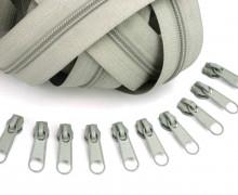 2m Endlos Reißverschluss *S*+10 Zipper Grüngrau (317)