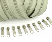 2m Endlosreißverschluss *S*+10 Zipper Blassgrün (295)
