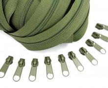 2m Endlosreißverschluss *S*+10 Zipper Armygrün (327)