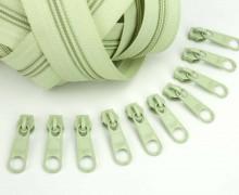 2m Endlosreißverschluss *B* + 10 Zipper - Lindgrün (244)