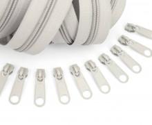 2m Endlos Reißverschluss *B*+10 Zipper Hellgrau (310)