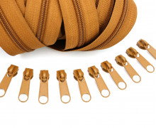 2m Endlosreißverschluss *B*+10 Zipper Hellbraun (290)