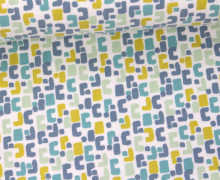 Jersey - Geometric - Grafisch - Hellblau/Weiß