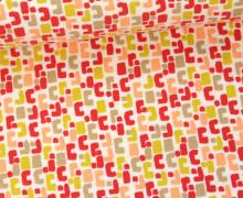 Jersey - Geometric - Grafisch - Rot/Weiß