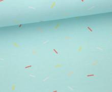 Jersey - Eis - Kombistoff - Streusel - Sprinkles - Hellblau