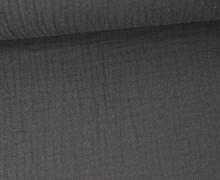Musselin - Muslin - Double Gauze - Uni - Blaugrau Dunkel