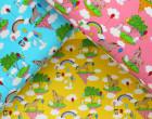 Jersey - Unicorn Wonderland - Einhörner - Regebögen - Luftballons - Häschen - Rosa