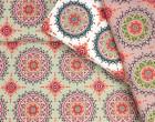 Stoff - Ring A Roses - Mandala - Ornamente - Pistazie