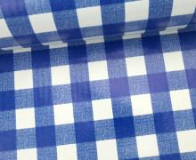 Wachstuch - Karos - Kariert - Checked - Blau