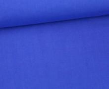 Leichter Baumwollstoff - Uni - 140cm - Royalblau