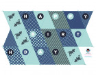 DIY-NÄHSET Wimpelkette - Happy Birthday - Dino