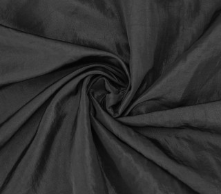 Fashionstoff - Crepe-Stoff - Glänzend - Uni - Schwarz