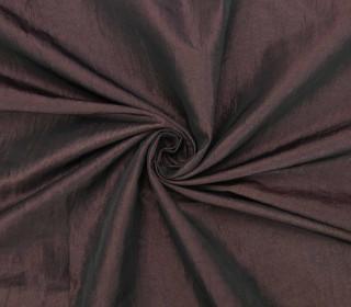 Fashionstoff - Crepe-Stoff - Glänzend - Uni - Schwarzbordeaux