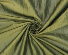 Fashionstoff - Crepe-Stoff - Glänzend - Uni - Olivgrün