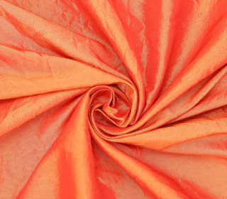 Fashionstoff - Crepe-Stoff - Glänzend - Uni - Orange