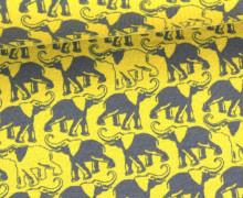 Jersey - Elefanten - Elephants - Senfgelb