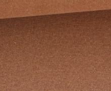 Glattes Bündchen - Glitzer - Metallic - Uni - Schlauchware - Bronze/Bronze