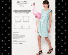 Schnittmuster - Kleid - Sommerflügel - S-M-L - Stofflage