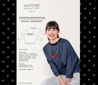 Schnittmuster - Pullover - Oberweite - S-M-L - Stofflage