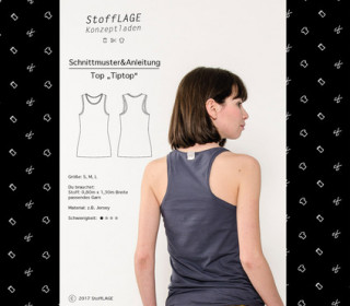Schnittmuster - Top - Tiptop - S-M-L - Stofflage