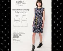 Schnittmuster - Kleid - Meerweite - S-M-L - Stofflage