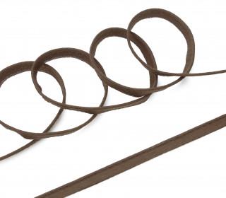 1 Meter Paspelband/Biesenband - Uni - Dunkelbraun