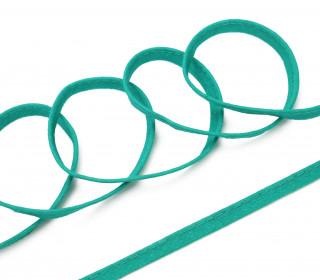 1 Meter Paspelband/Biesenband - Uni - Türkisgrün