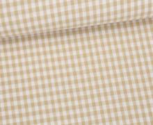 Vichy Stoff - Mittlere Karos -  4mm x 5mm -Beige