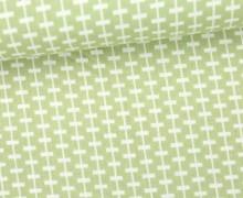 Stoff - Linien - Striche - Duo Mini - Lindgrün