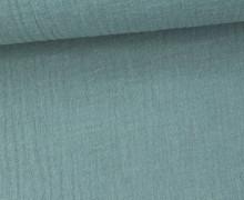 Musselin Lotta - Muslin - Double Gauze - Uni - Schnuffeltuch - Windeltuch - Meergrün