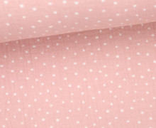 Musselin Lotta - Double Gauze - Dots - Pünktchen - Rosa