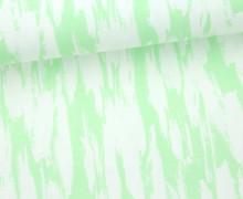Jersey - Gemalte Striche - Painted Strokes - Abstrakt - Hellgrün