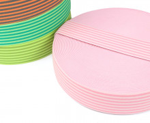 1 Meter Gummiband - Streifen - Schmal - Farbig - 40mm - Hellrosa/Rosa