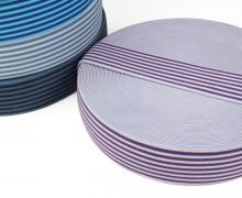 1 Meter Gummiband - Streifen - Schmal - Farbig - 40mm - Flieder/Lila