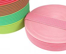1 Meter Gummiband - Streifen - Schmal - Farbig - 40mm - Hellrosa/Pink