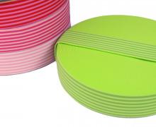 1 Meter Gummiband - Streifen - Schmal - Farbig - 40mm - Gelbgrün/Oliv