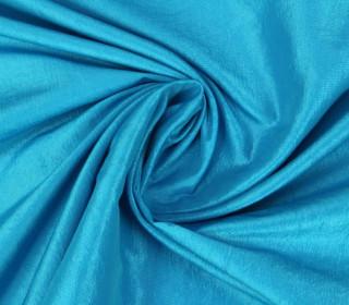 Fashionstoff - Crepe-Stoff - Glänzend - Uni - Cyanblau