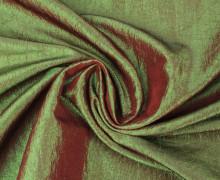 Fashionstoff - Crepe-Stoff - Glänzend - Uni - Rot/Grün
