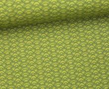 Stoff - Bögen - Curves - Summertime - Olivgrün
