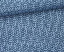 Stoff - Bögen - Curves - Summertime - Pastellblau