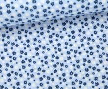 Stoff - Mini Blüten - Blumen - Flowers - Summertime - Babyblau