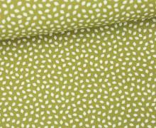 Stoff - Mini Blätter - Leafes - Summertime - Olivgrün