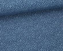 Stoff - Mini Steine - Pünktchen - Summertime - Blau