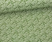 Stoff - Ranken - Blätter - Summertime - Grün