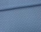 Stoff - Ranken - Blätter - Summertime - Taubenblau
