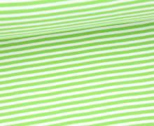 Bündchen - Ringelbündchen - Streifen - Little Darling - Hellgrün/Weiß