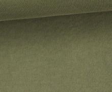Fashionstoff - Modal - Rippenoptik - Uni - Olive