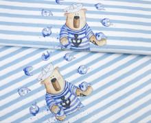Jersey - Rapport - Seebär - Fische - Streifen - Treeebird - abby and me - Blau/Weiß