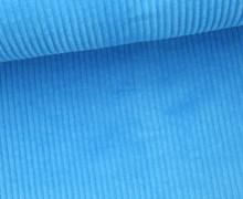 Cord mit breiter Struktur - Breitcord - Cyanblau