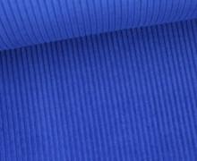 Cord mit breiter Struktur - Breitcord - Royalblau